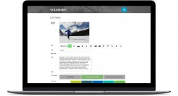 Banff Adventures Desktop Weather Admin Page